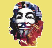 Che Guevarra Anonymous on fire Kids Clothes