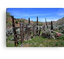 Old,Withered Gate,Reno Nevada USA Canvas Print