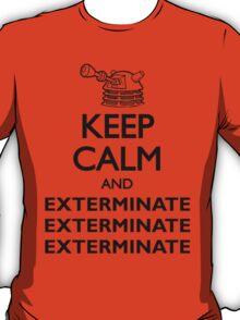 Dalek Keep Calm & Exterminate... T-Shirt