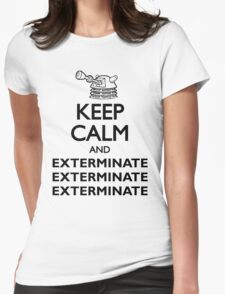 Dalek Keep Calm & Exterminate... Womens Fitted T-Shirt