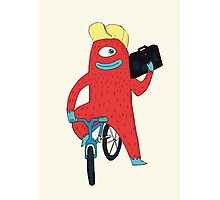Cyclop monster on a bicycle Photographic Print