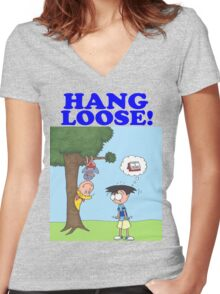 Hang Loose! Women's Fitted V-Neck T-Shirt
