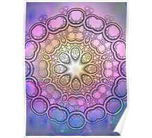 The Pastels Kaleidoscope, mixed media / fractal art Poster