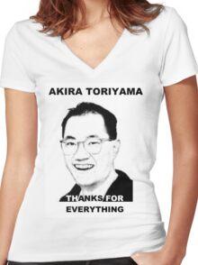 Akira Toriyama -Praise Design Women's Fitted V-Neck T-Shirt