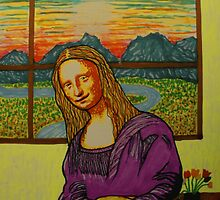 Expectant Mona Lisa by George Hunter