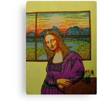 Expectant Mona Lisa Canvas Print