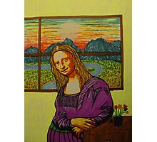 Expectant Mona Lisa Photographic Print