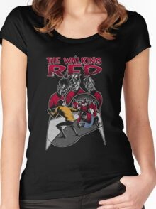 The Walking Red (Color Variant) Women's Fitted Scoop T-Shirt