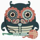 crochet hook owl paisley mustache steampunk skeleton by BigMRanch