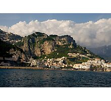 Italy - somewhere between Positano and Amalfi Photographic Print