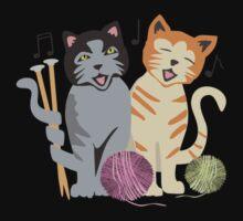 Singing cats knitting needles yarn Kids Clothes