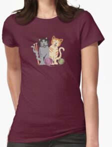 Singing cats knitting needles yarn T-Shirt