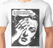 Vintage Pop Art Ad- Thoughts and Imagery Unisex T-Shirt