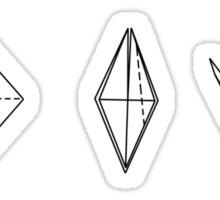 Origami T-shirt Sticker