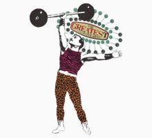 Vintage circus strong man gay man animal print tights Kids Clothes