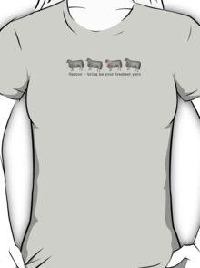 Vintage sheep fresh yarn funny knitting crochet t-shirt T-Shirt