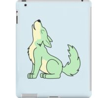 Light Green Howling Wolf Pup iPad Case/Skin