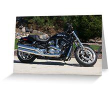 2007 Harley Davidson Night Rod VRSC V-Rod Motorcycle Greeting Card