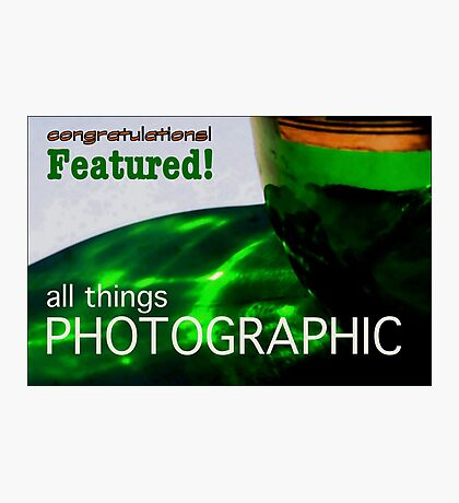 Banner Bottle Photographic Photographic Print