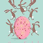 ACROBATIC EASTER BUNNIES by Jane Newland