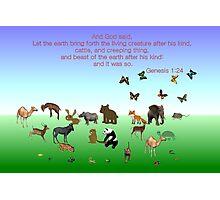 Genesis 1:24 - In The Beginning Photographic Print