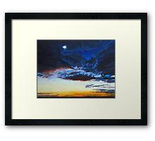 Twilit Winter Sky Framed Print