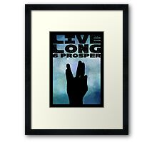 Live Long & Prosper Framed Print