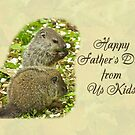 Happy Father's Day Greeting Card - Baby Groundhogs by MotherNature