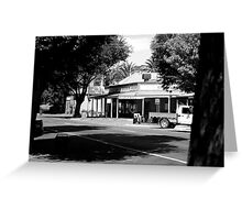 summer day main street Greeting Card
