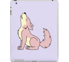 Light Pink Howling Wolf Pup iPad Case/Skin