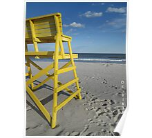 Yellow on the Beach 2684 Poster