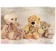 Sweet little teddybears Poster