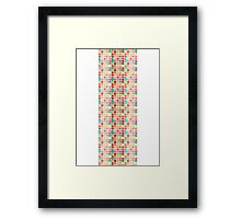 Summertime Chevrons; Watercolor & Ink Poster Framed Print