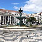 Fountain - Rossio Square, Lisbon by kkmarais