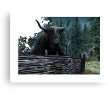 Sophisticated Cow of The Highland Canvas Print