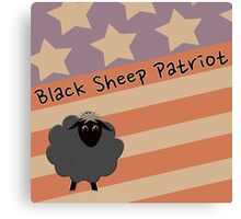 Black Sheep Patriot, USA Canvas Print