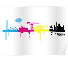 Glasgow CMYK Poster