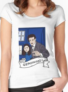 the doctor and clara Women's Fitted Scoop T-Shirt