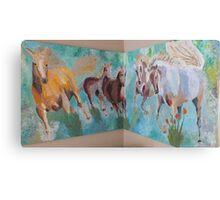 Corner Running Horses Canvas Print