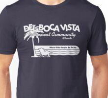 Del Boca Vista (White Print) Unisex T-Shirt
