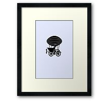 Airship Cyclist Framed Print