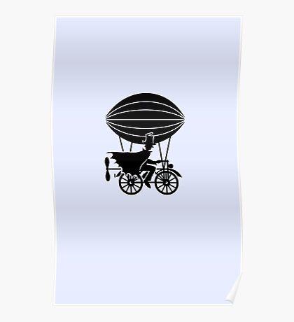 Airship Cyclist VRS2 Poster