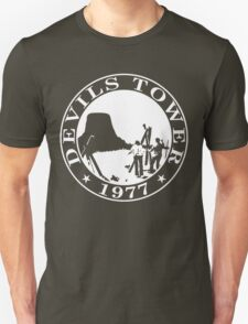Devils Tower, 1977 (White Print) T-Shirt