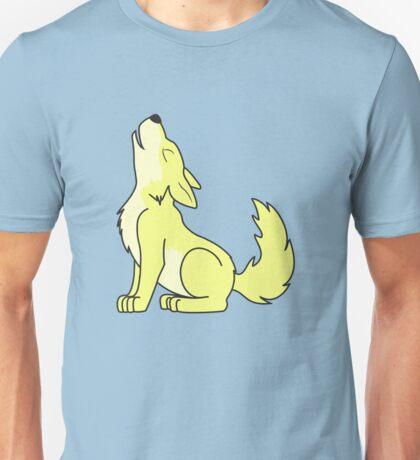 Light Yellow Howling Wolf Pup Unisex T-Shirt
