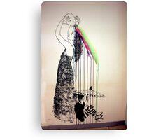 Rainbow Shampoo And Shower Canvas Print