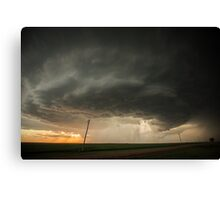 Kansas Supercell Canvas Print