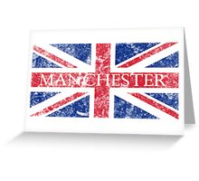 Aged Manchester Flag Greeting Card