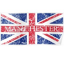 Aged Manchester Flag Poster