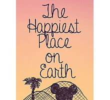Happiest Place on Earth Photographic Print