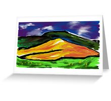 Expressionist hills Greeting Card